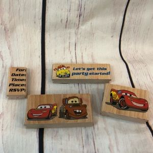 Set of 4 Disney Pixar Cars Stamps Party Invites
